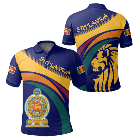 1sttheworld Sri Lanka Lion Coat Of Arms Polo Shirt