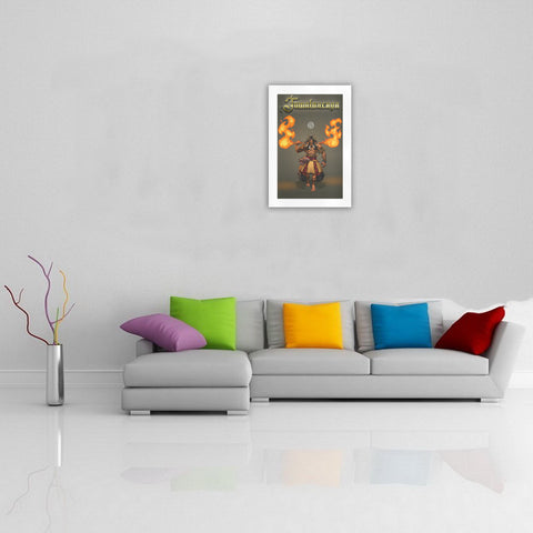 Image of Tumatauenga God Of War Art Print  - wall art, art print, god of maori, tumatauenga, home decor