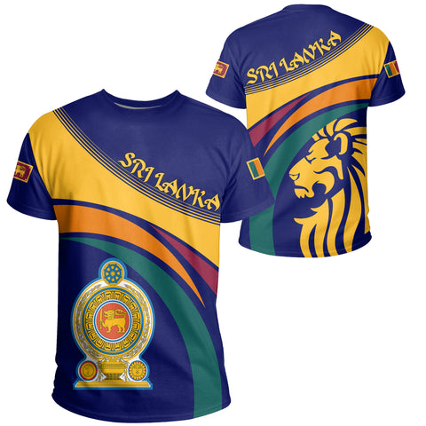 1sttheworld Sri Lanka Lion Coat Of Arms T-shirt