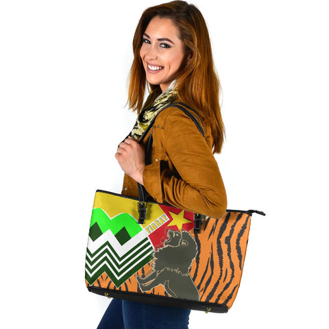 1sttheworld Tigray Large Leather Tote - Tigray Pride - BN21