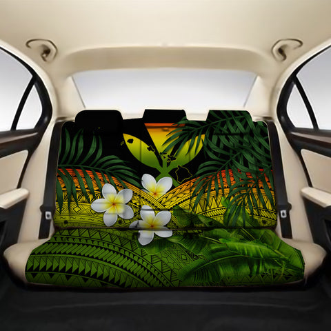 Kanaka Maoli (Hawaiian) Back Car Seat Covers - Polynesian Plumeria Banana Leaves Reggae A02
