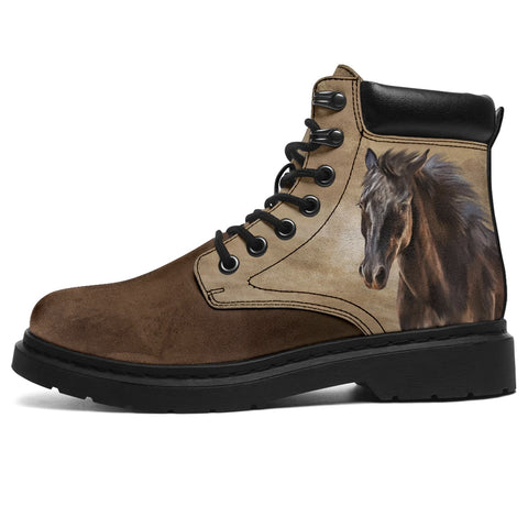 Image of Horse All Season Boots - Bohemian Horse Boots - Brown Toe - BN14