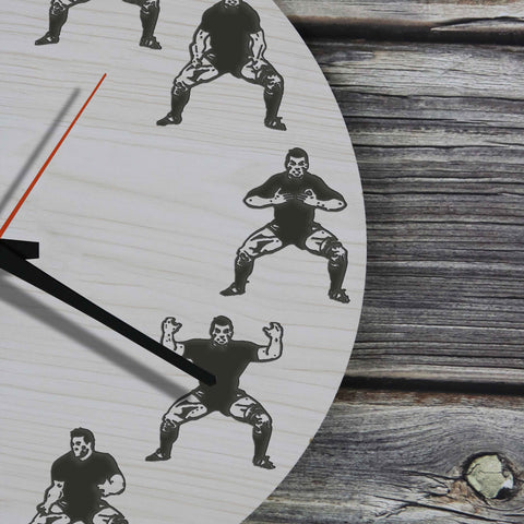 Haka Dance Wooden Wall Clock™ - BN04