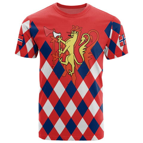 Norway T-shirt - Norway Lion with Flag Color