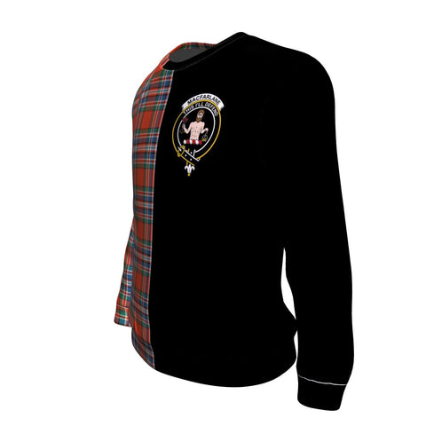 MacFarlane Ancient Tartan Sweatshirt - Half Style TH8