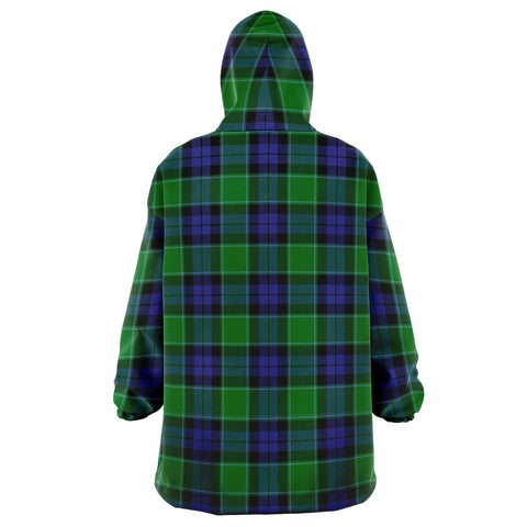 Image of Graham of Menteith Modern Snug Hoodie - Unisex Tartan Plaid Back