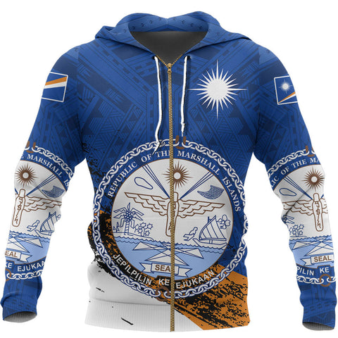 Image of Marshall Islands Micronesia Special Zipper Hoodie A7