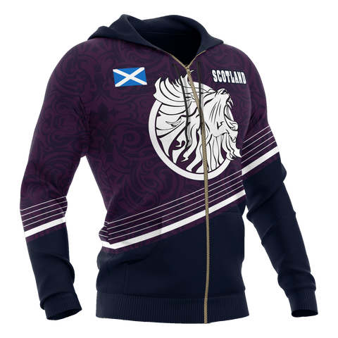 Image of Scotland Hoodie (Zip-up) - Scottish Lion - BN18