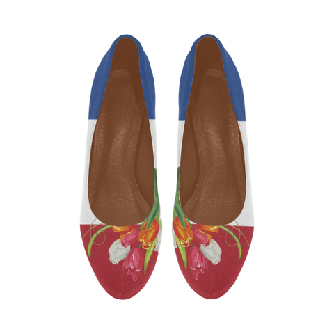 Image of Netherlands High Heel Pumps - Tulip On Flag | Hot Sale