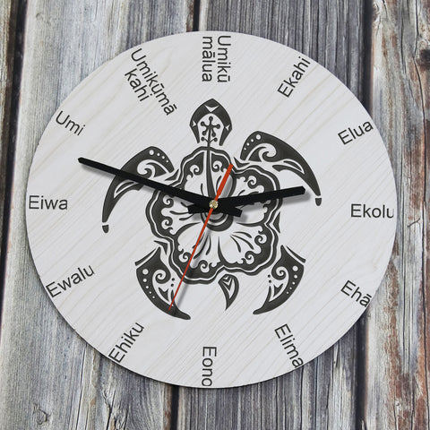Wooden Wall Clock,Wooden Wall Clocks,Wall Clocks,MDF - VENEER wood,HOME DECOR,Hawaiian Wall Clock,Hawaiian Clock,hawaiian,Hawaii Wall Clock,Hawaii Clocks,HAWAII,Clock,Clocks, Turtle, Hawaii Turtle, Hawiian Turtle, Turtle Wall Clock