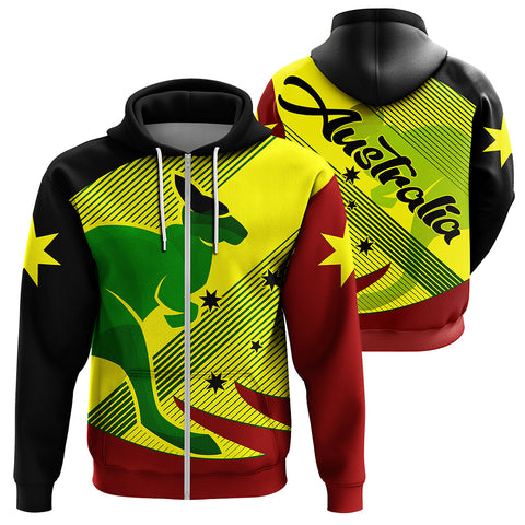 Image of Australia Kangaroo Spirit Zip Hoodie | Clothing | 1sttheworld.com