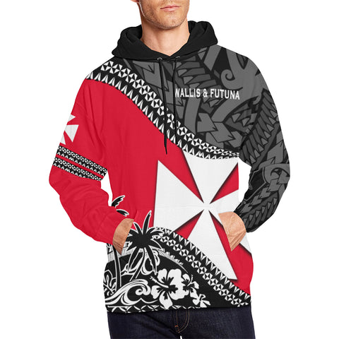 Wallis And Futuna Hoodie Fall In The Wave - For Man