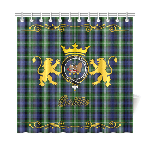 Image of Tartan Shower Curtain - Baillie Clan | Scottish Home Set | Over 300 Clans