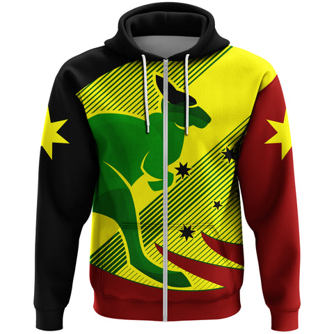 Image of Australia Kangaroo Spirit Zip Hoodie | Clothing