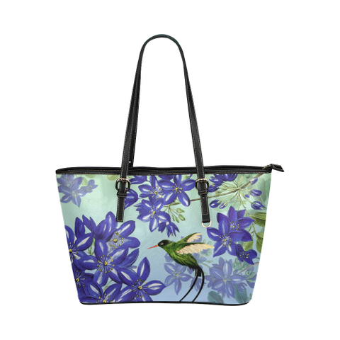 Jamaica Leather Tote Bag - Jamaican Doctor Bird - Lignum Vitae - Women Tote Bags