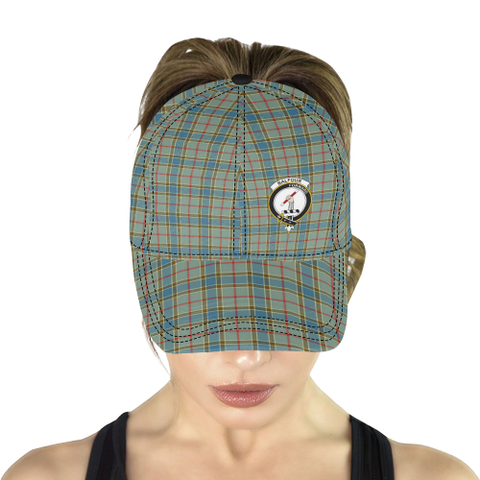 Balfour Blue Clan Badge Tartan Dad Cap - BN03