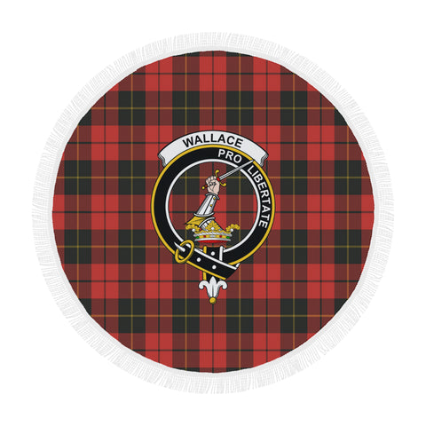 WALLACE WEATHERED CLAN BADGE TARTAN BEACH BLANKET th8