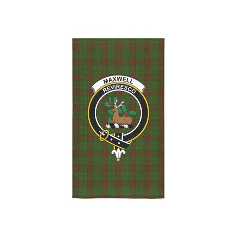 Maxwell Hunting Tartan Towel Clan Badge NN5