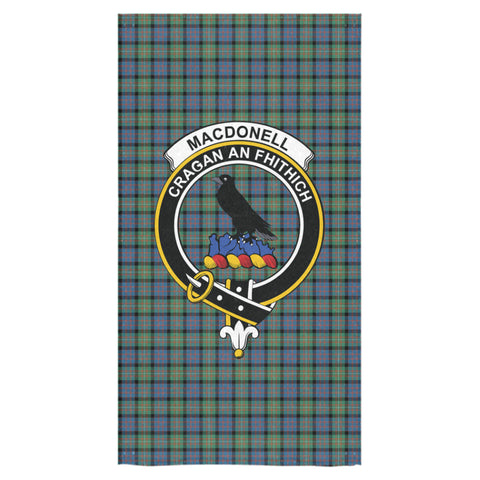 Image of MacDonnell of Glengarry Ancient Tartan Towel Clan Badge NN5