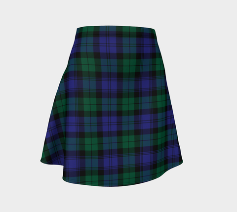 Tartan Skirt - Blackwatch Modern Women Flared Skirt A9 |Clothing| 1sttheworld