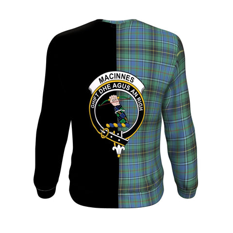 MacInnes Ancient Tartan Sweatshirt - Half Style TH8