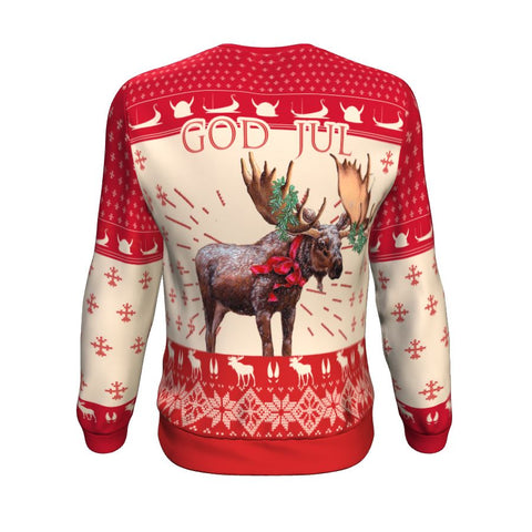 Christmas Moose Norway™ Sweatshirt by 1sttheworld - Back for Men and Women