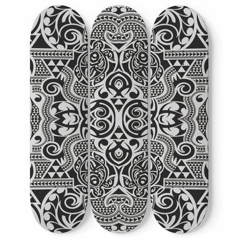 Polynesian Tribal 3 Skateboard Wall Art - 31 J9