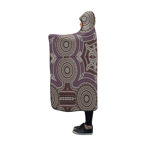 Australia Aboriginal 09 Hooded Blanket H7 | Love The World