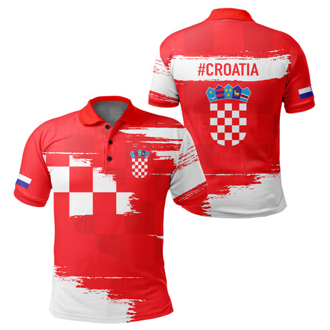 Croatia Polo Shirt - Sport Ver Red | Clothing | 1sttheworld