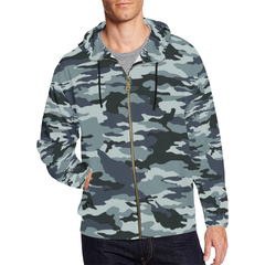 Camo Hoodie Zip - Black And White Version - BN07