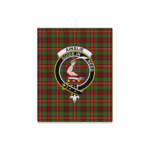 Tartan Canvas Print - Ainslie Clan | Over 300 Scottish Clans and 500 Tartans
