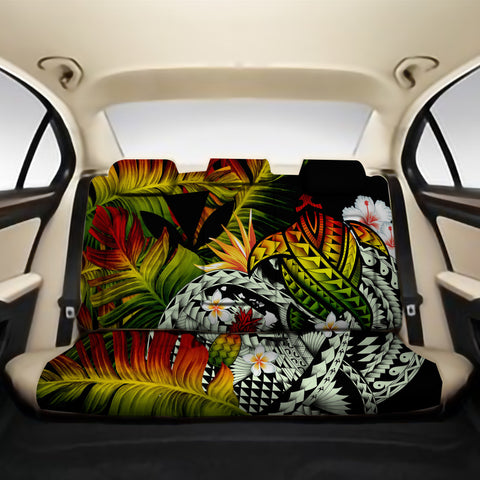 Kanaka Maoli (Hawaiian) Back Car Seat Covers - Polynesian Pineapple Banana Leaves Turtle Tattoo Reggae A02