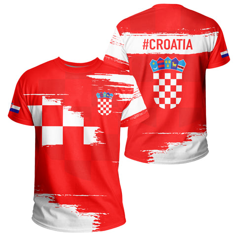 Image of Croatia T-shirt - Sport Ver Red | Clothing | 1sttheworld