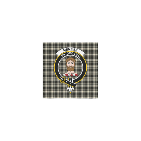 Menzies Black & White Ancient Tartan Towel Clan Badge NN5