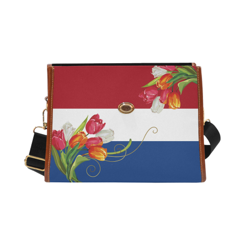The Netherlands Tulips Waterproof Canvas Bag | HOT Sale
