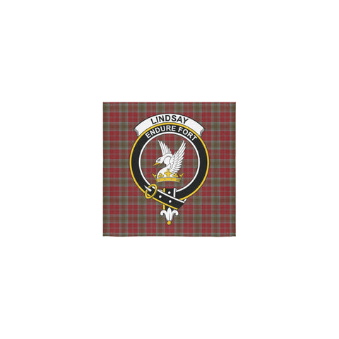 Lindsay Weathered Tartan Towel Clan Badge | 1sttheworld.com