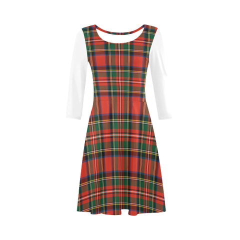 Image of Tartan Sundress - Stewart Royal Modern | Women Clothing | Love The World