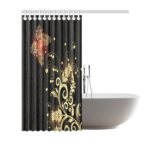 Scottish Golden Thistle Shower Curtain A7