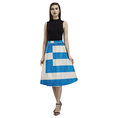 GREECE FLAG AOEDE CREPE SKIRT A1