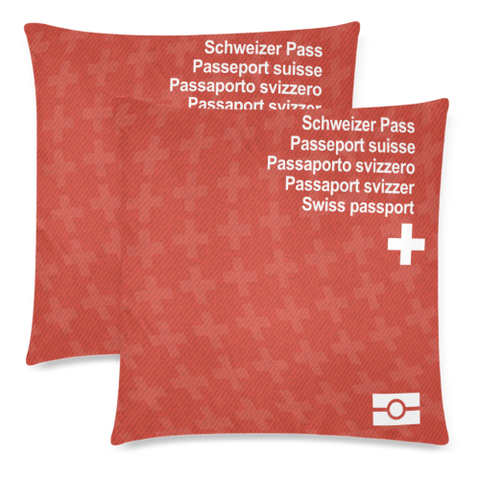 Pillow Case- Switzerland Passport - BN