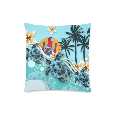 Tahiti Pillow Cases - Blue Turtle Hibiscus | Love The World