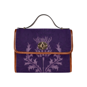 Scotland Canvas Bag - Purple Thistle A9
