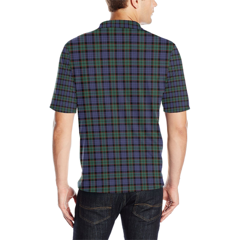 Fletcher Modern Tartan Clan Badge Polo Shirt HJ4