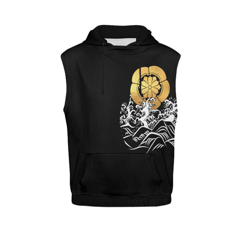 The Golden Koi Fish Sleeveless Hoodie | Highest Quality Standard