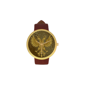 Albania double-headed eagle golden strap watch NN6
