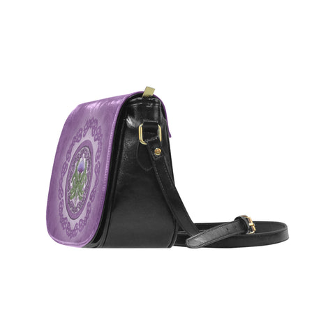 Thistle Scottish Purple Luxury Saddle Bag - BN01