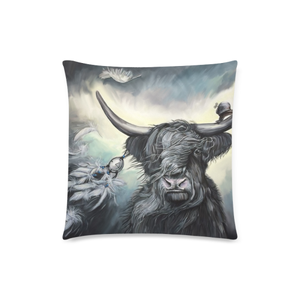 Scotland Pillow Case - Scottish Highland Cow Zippered Pillow A9
