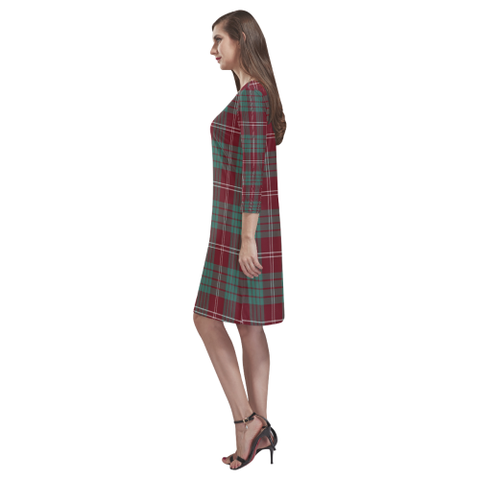 Crawford Modern Tartan Dress - Rhea Loose Round Neck Dress - BN