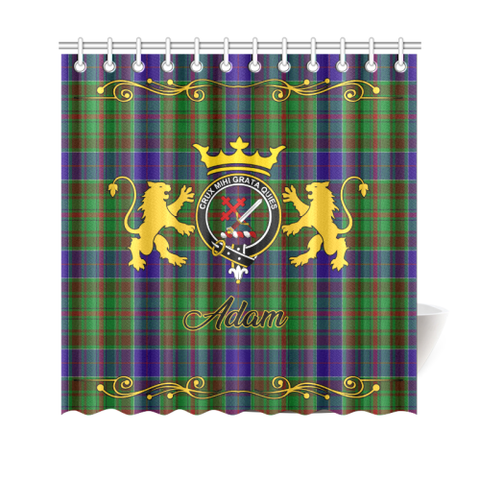 Tartan Shower Curtain - Adam Clan | Scottish Home Set | Over 300 Clans