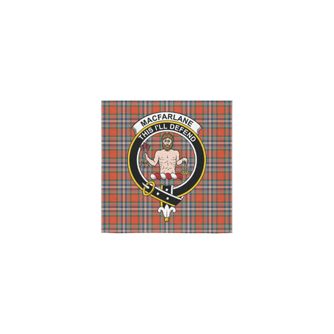 MacFarlane Ancient Tartan Towel Clan Badge | 1sttheworld.com